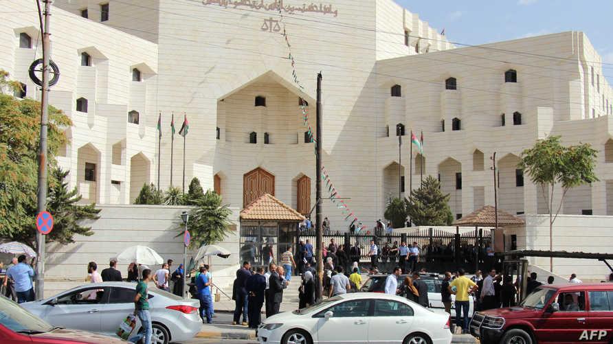 محكمة في العاصمة الأردنية عمان حيث قتل الصحافي الأردني ناهض حتر