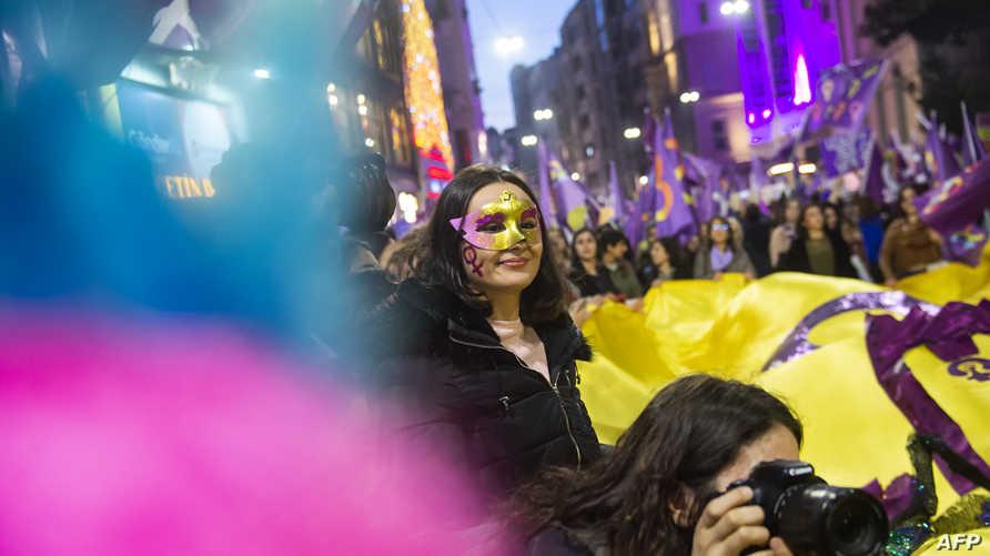 خلال الاحتفال بيوم المرأة العالمي في تركيا