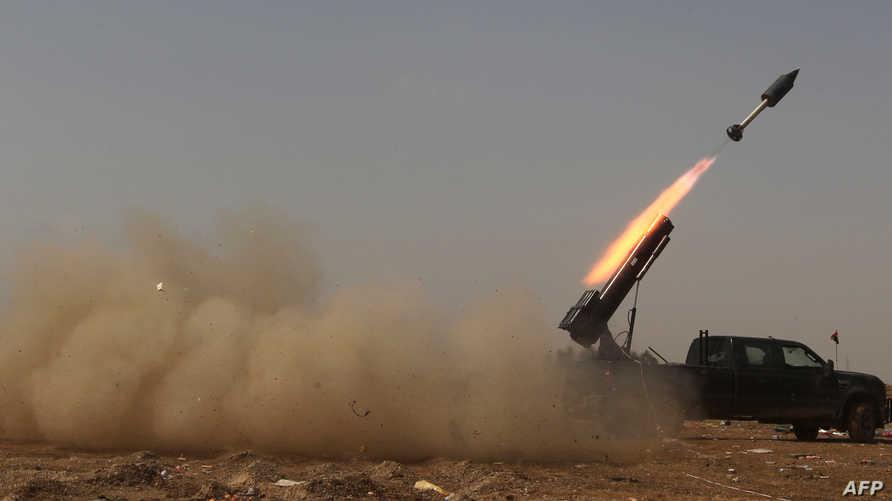 القوات العراقية تقصف معاقل داعش في تكريت