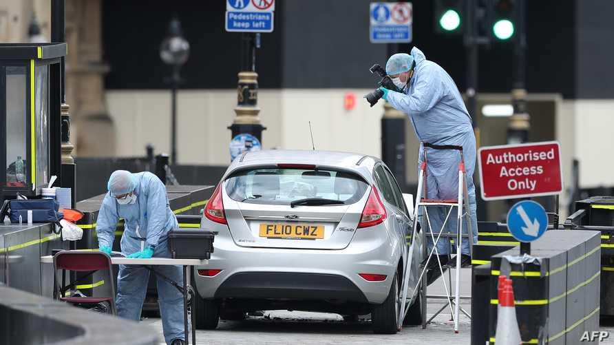 السيارة التي اصطدمت بالحواجز الأمنية للبرلمان البريطاني