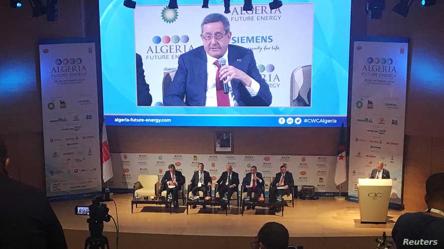 عبد المؤمن ولد قدور متحدثا في مؤتمر دولي حول النفط والغاز في الجزائر-أرشيف