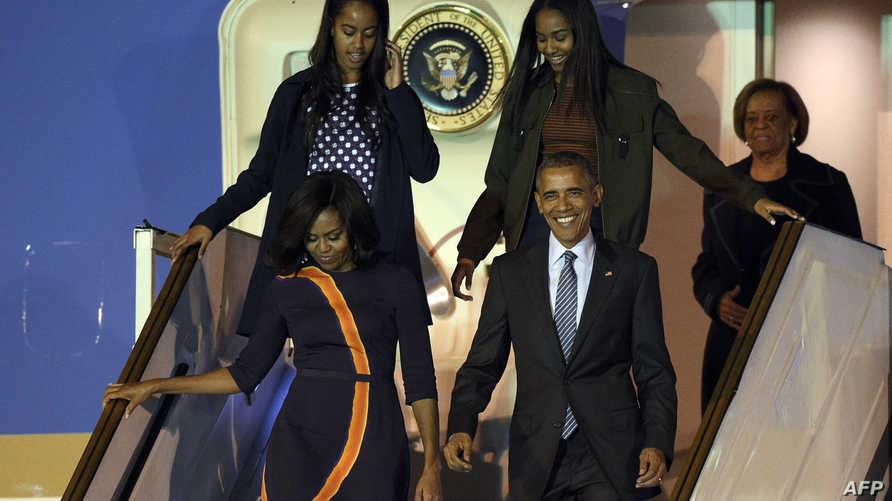 أوباما لدى وصوله إلى الأرجنتين