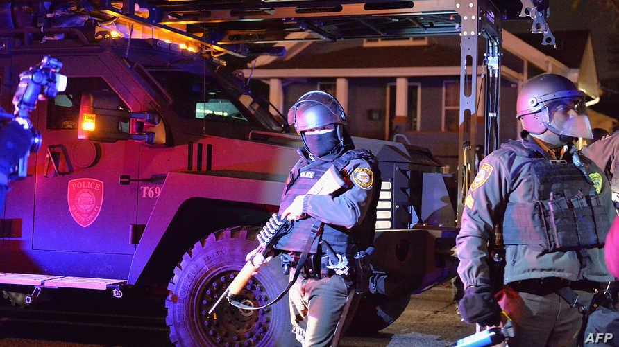 الشرطة في موقع احتجاجات شهدتها فيرغسون -أرشيف