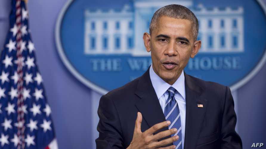 الرئيس باراك أوباما خلال مؤتمره الصحافي الجمعة