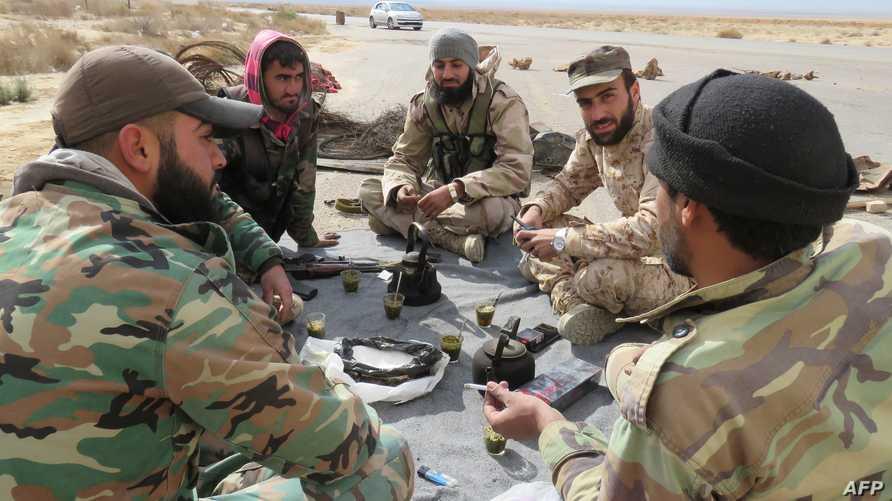 قوات نظامية سورية في تدمر -أرشيف