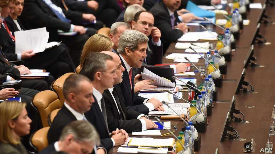 جانب من اجتماع التحالف الدولي للقضاء على داعش، أرشيف