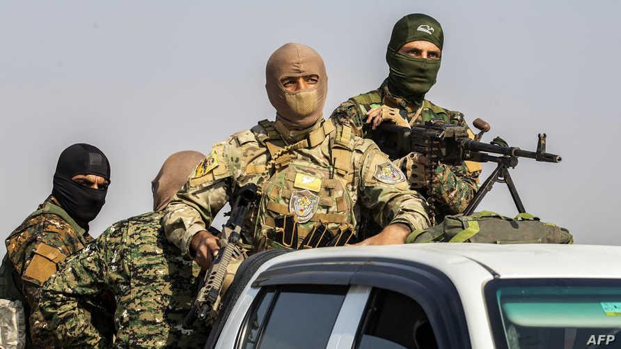 مقاتلون من قوات سوريا الديمقراطية - 27 أكتوبر 2019