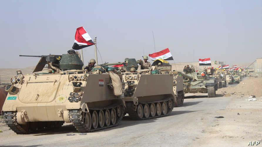 قوات عراقية قرب الفلوجة  الشهر الماضي