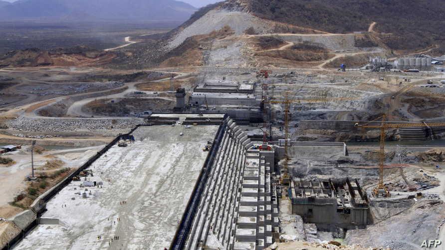 لقطة من عملية إنشاء سد النهضة الإثيوبي
