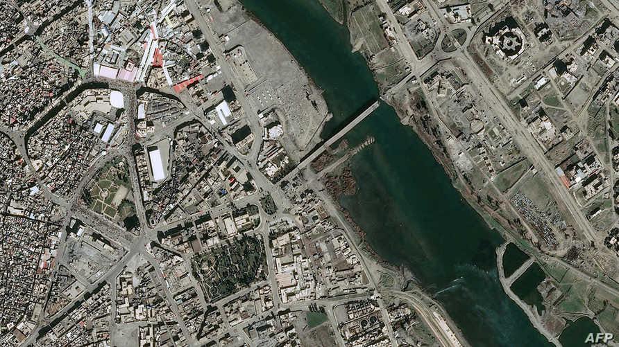 صورة بالأقمار الصناعية لجسر الحرية