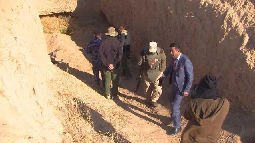 واحدة من المقابر الجماعية المكتشفة حديثا في صلاح الدين