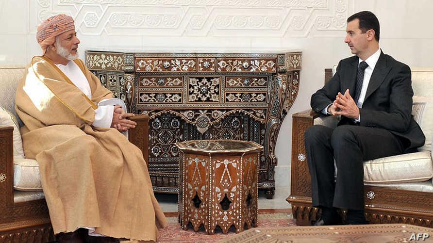بشار الأسد ويوسف بن علوي في لقاء سابق