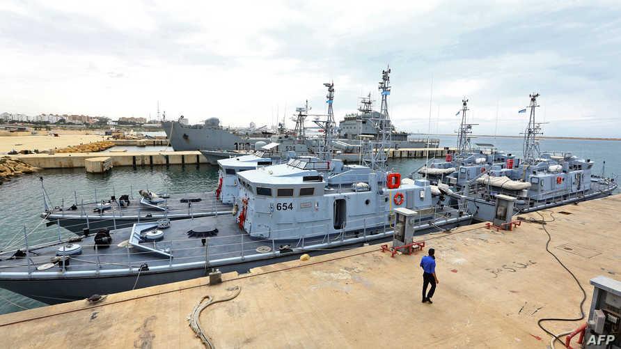 سفن تابعة للبحرية الليبية في ميناء طرابلس- أرشيف