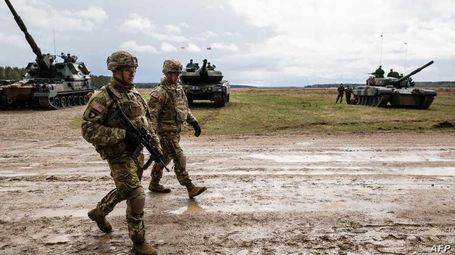 قوات أميركية باحتفال للناتو 13 نيسان/ أبريل 2017 في بولندا
