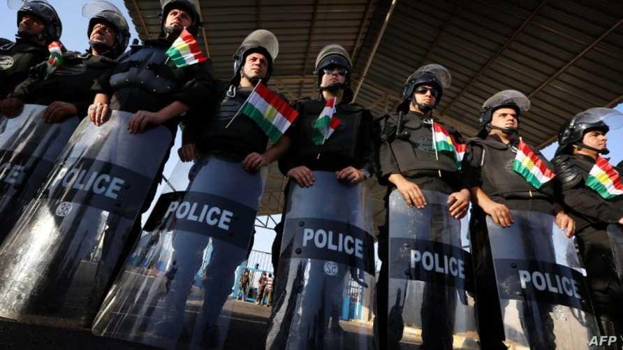 عناصر أمنية في شرطة كردستان العراق