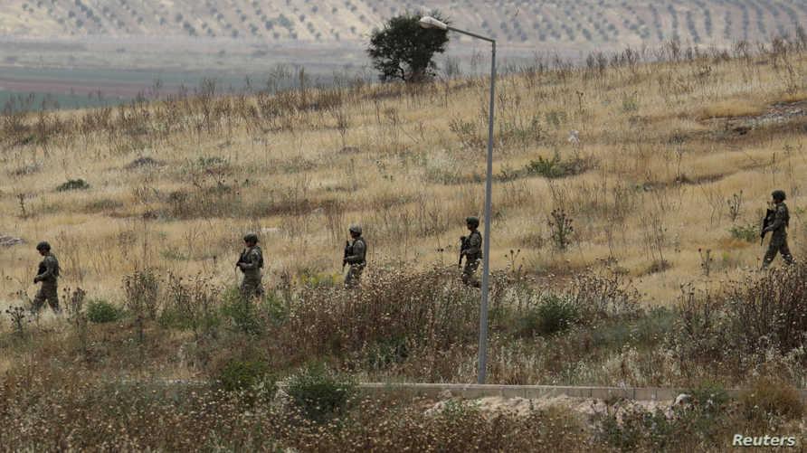جنود أتراك على الحدود مع سوريا، 2019