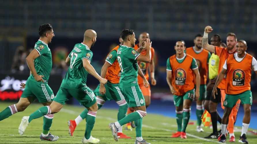 فرحة اللاعبين الجزائريين