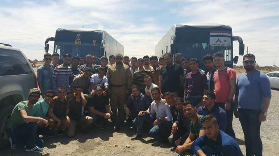 """شباب الموصل في طريقهم إلى مدينة العمارة ضمن فعاليات حملة """"هلا بيكم"""""""