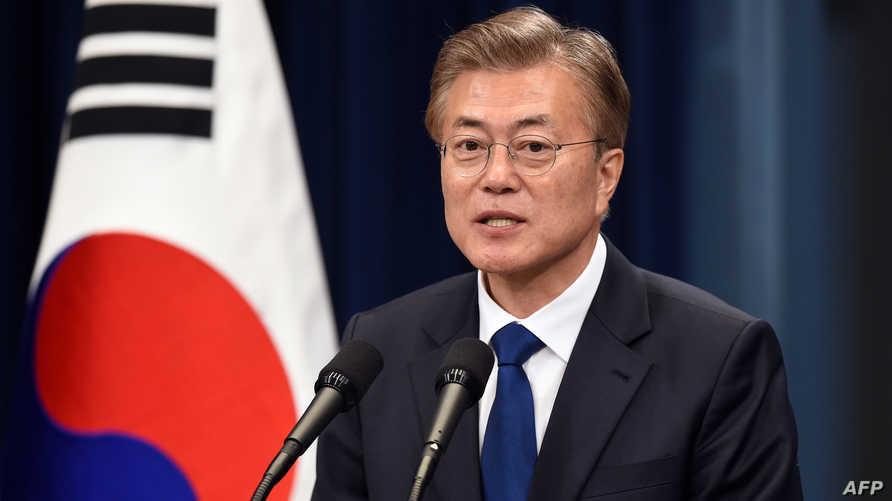الرئيس الكوري الجنوبي مون جاي-إن