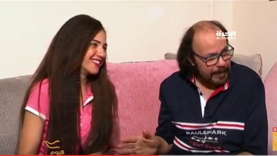 الممثل الكوميدي طلعت زكريا وابنته إيمي في لقاء في برنامج اليوم
