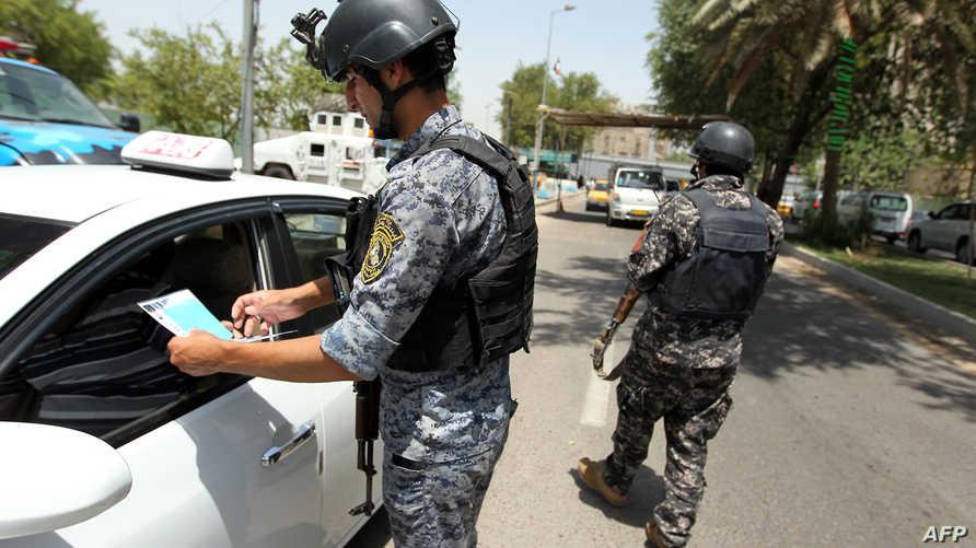 جانب من الإجراءات الأمنية في بغداد في شهر يوليو/تموز 2013