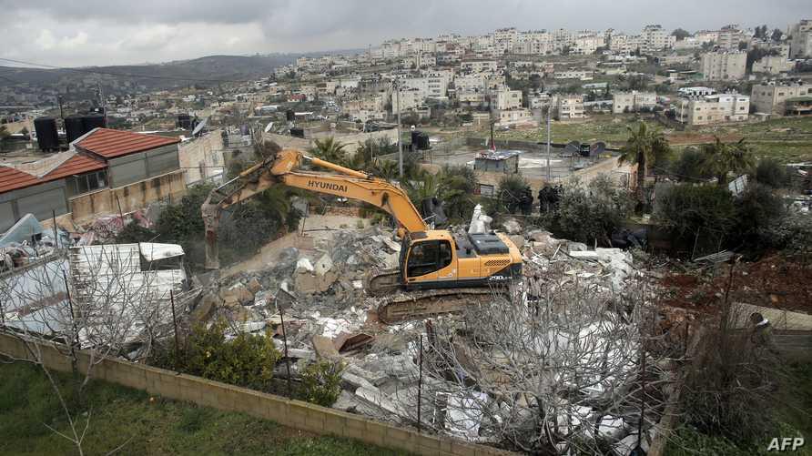 عملية هدم سابقة لمنزل فلسطيني في القدس الشرقية