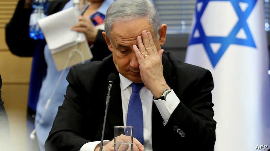 رئيس الوزراء الإسرائيلي المنتهية ولايته بنيامين نتانياهو