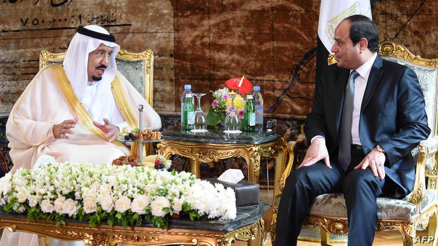 الرئيس المصري عبد الفتاح السيسي والعاهل السعودي سلمان بن عبد العزيز