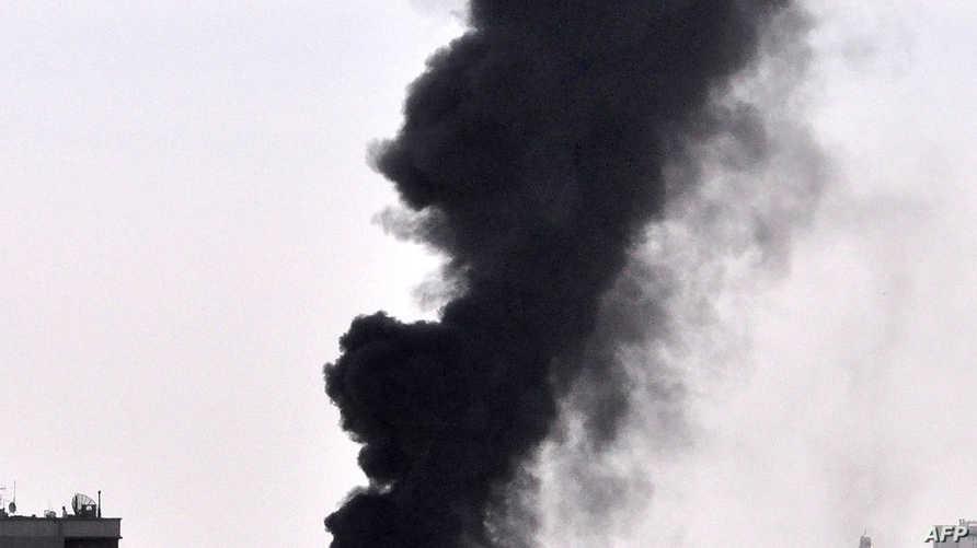 سقوط القذائف على دمشق