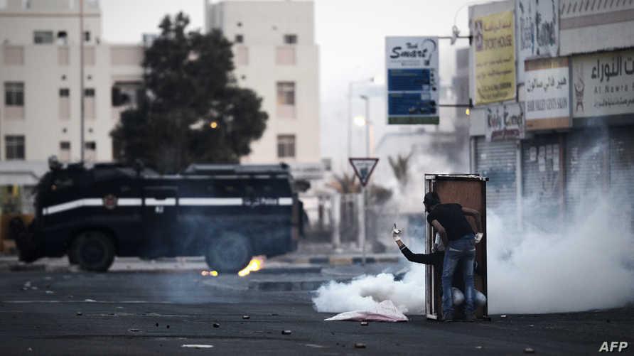 جانب من إحدى المواجهات مع الشرطة في البحرين