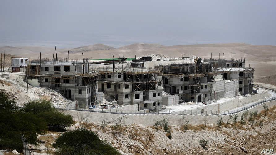 جانب من عمليات بناء في مستوطنة معالي أدوميم في الضفة- أرشيف