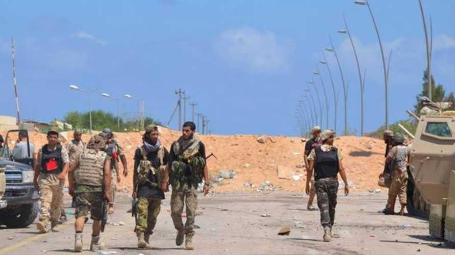 قوات تابعة لحكومة الوفاق تتوغل في سرت ( صورة من صفحة المركز الإعلامي لعملية البنيان المرصوص على فيسبوك)