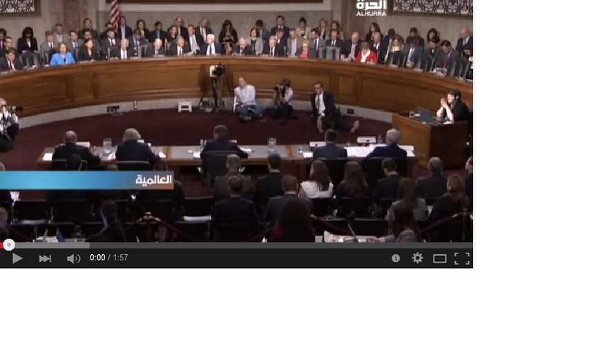 جانب من جلسة استماع لجنة القوات المسلحة في مجلس الشيوخ الأميركي