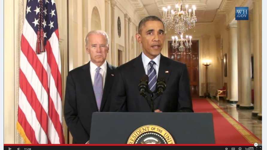 الرئيس أوباما خلال خطابه حول الاتفاق النووي مع إيران