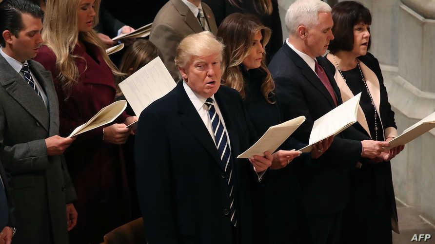 ترامب في القداس