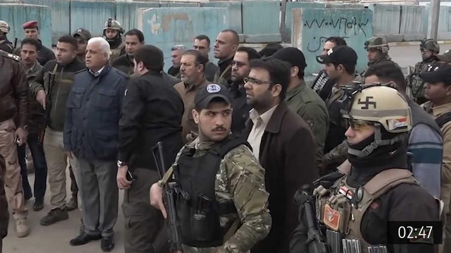 أبو زينب اللامي.. يقف خلف رئيس هيئة الحشد الشعبي مستشار الأمن الوطني فالح الفياض