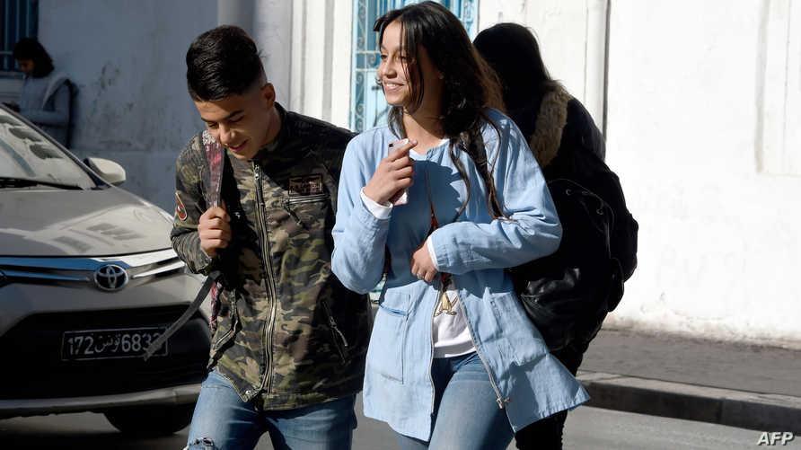 تلاميذ من تونس