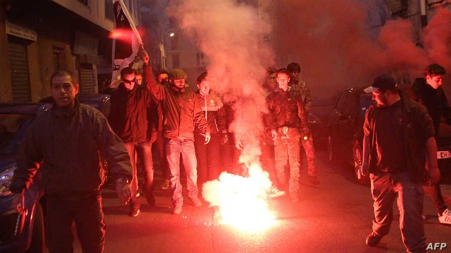 مظاهرات ضد العرب في كورسيكا