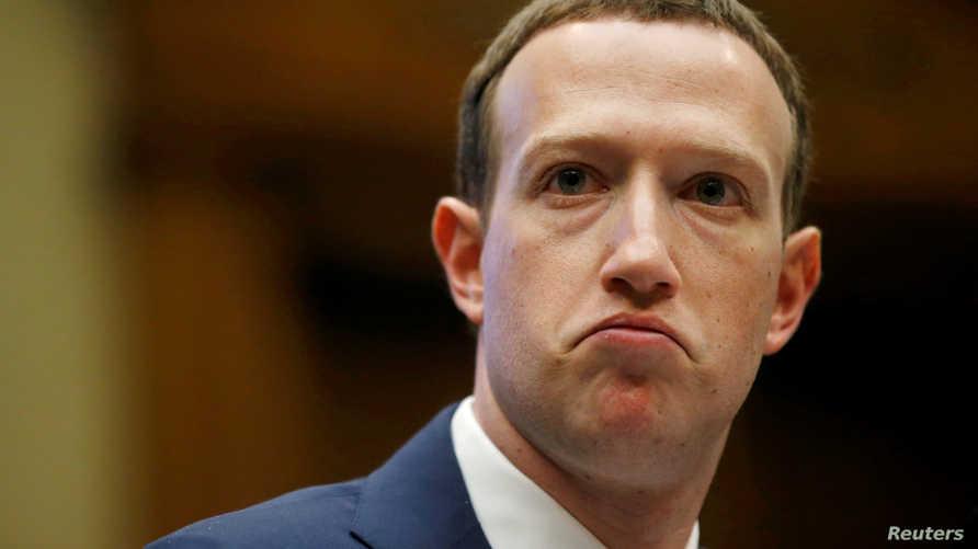 مؤسس فيسبوك مارك زوكربرغ خلال شهادته أمام لجنة التجارة والطاقة في مجلس الشيوخ
