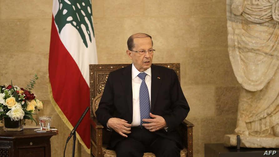 حمل الرئيس اللبناني ميشال عون الشعب مسؤولية عدم محاربة الفساد