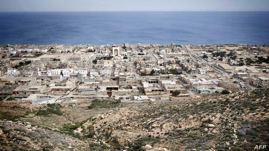 منظر عام لمدينة درنة شرقي ليبيا