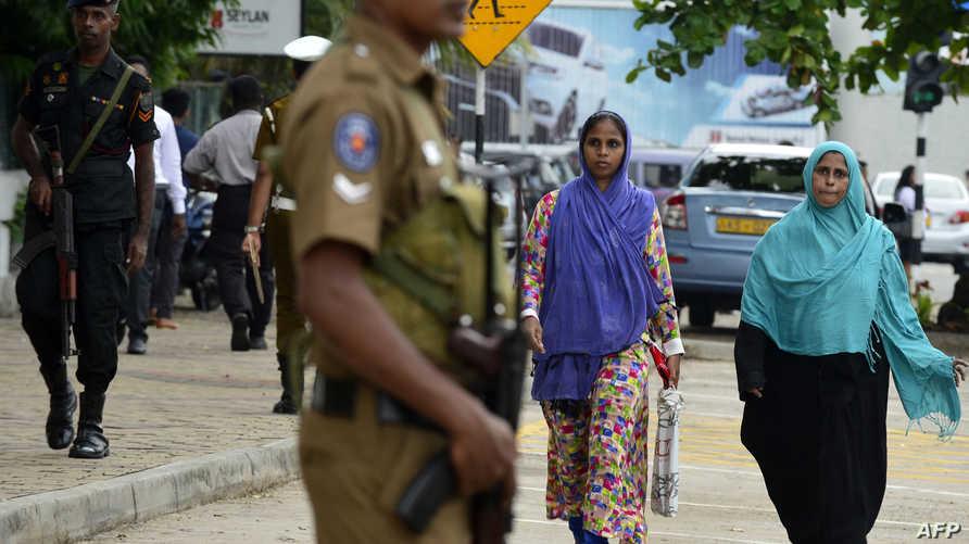 انتشار أمني قرب أحد مساجد العاصمة السريلانكية