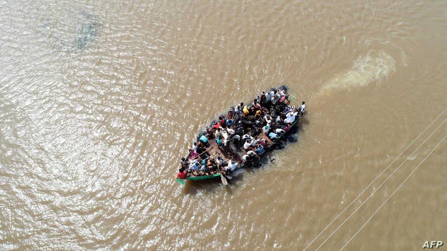 فيضانات الهند بسبب الأمطار الموسمية