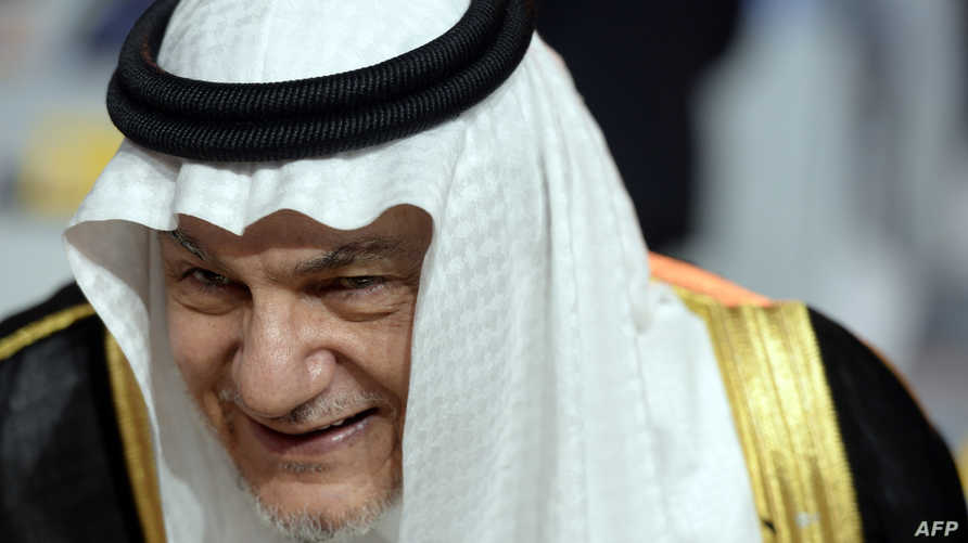 الأمير تركي الفيصل خلال تجمع مجاهدي خلق المعارضة لطهران في باريس