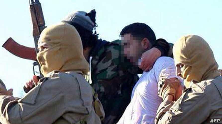 تنظيم داعش ينشر صورة يقول إنها للطيار الأردني الذي أسره عندما سقطت طيارته بالقرب مدينة الرقة السورية
