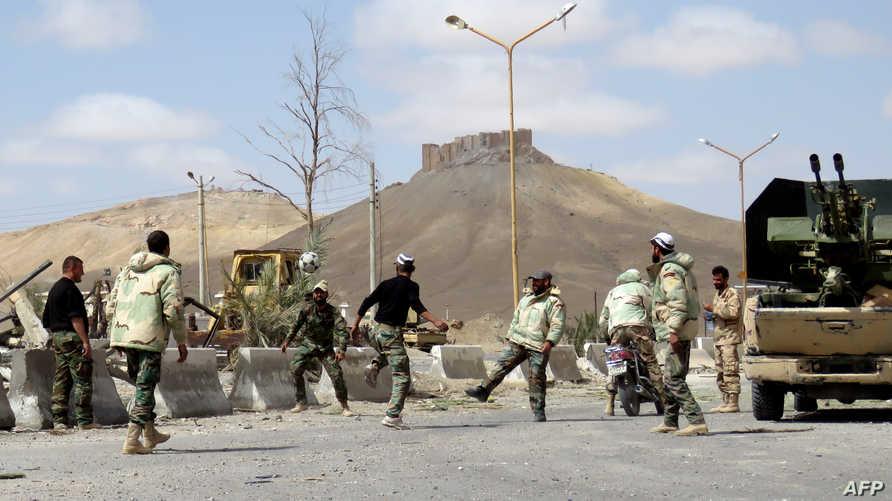 قوات نظامية سورية في تدمر