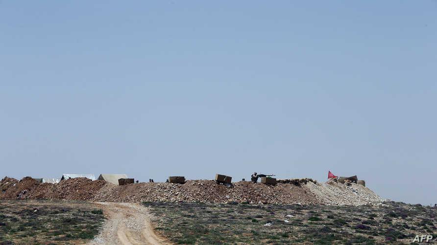 إحدى المناطق التي يتمركز فيها مقاتلو حزب الله في عرسال- أرشيف