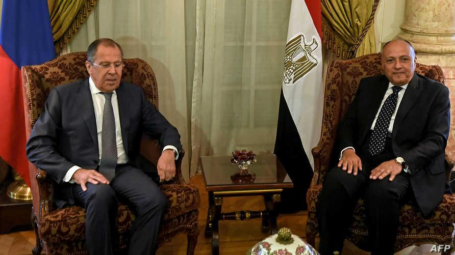 لقاء لافروف وشكري في القاهرة