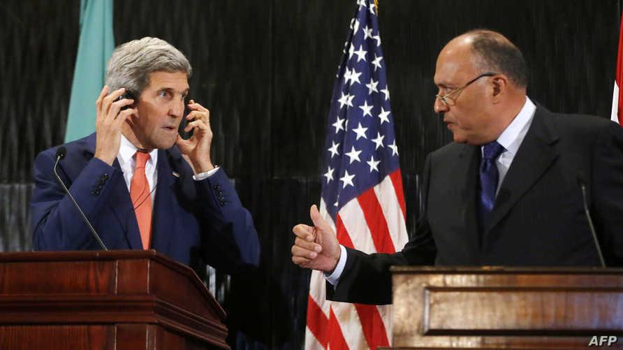 وزير الخارجية الأميركي جون كيري ونظيره المصري سامح شكري- أرشيف
