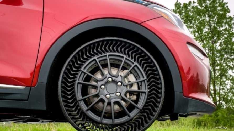 إطارات مفرغة الهواء- الصورة من موقع جنرال موتورز